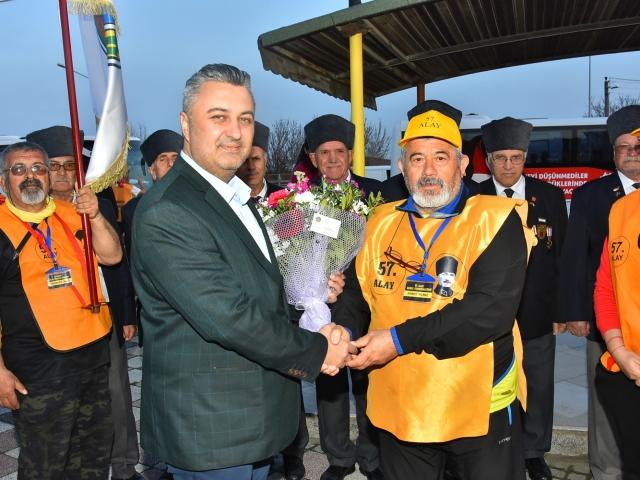 57'nci Alay korteji, Malkara'ya ulaştı