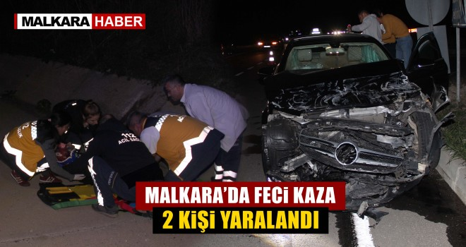 Kadıköy Kavşağında Kaza; 2 Yaralı