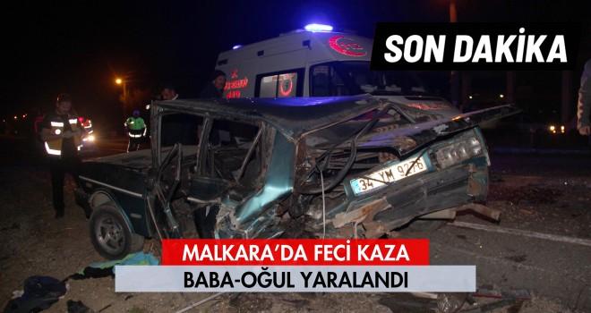 Malkara'da Feci Kaza; 2 Yaralı