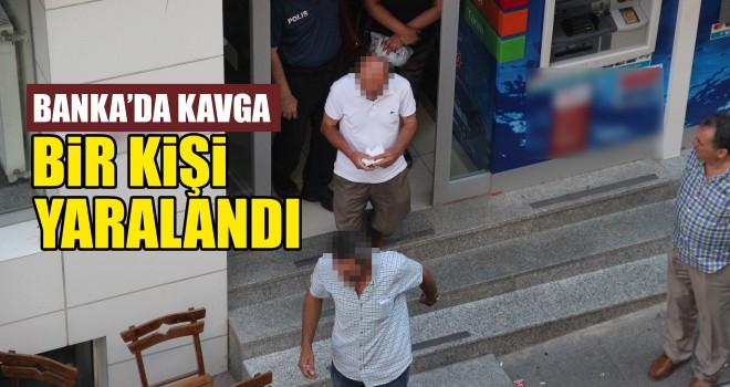 Banka'da Çıkan Kavga'da Bir Kişi Yaralandı