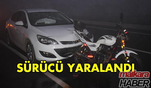 Otomobil Motosiklete Çarptı 1 Kişi Yaralandı