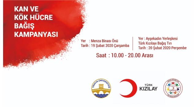 """Trakya Üniversitesi'nden """"Yeni Bir Kan Bağışı"""" Seferberliği"""
