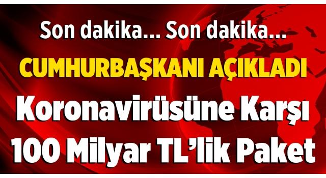 Cumhurbaşkanı Erdoğan, Korona virüsü salgınına ilişkin ekonomik kararları açıkladı...