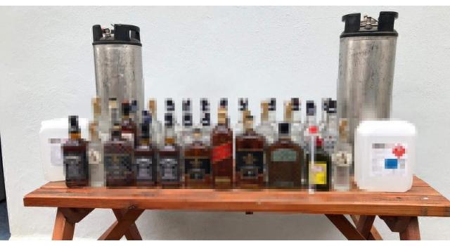 Tekirdağ'da 595 litre sahte içki ele geçirildi