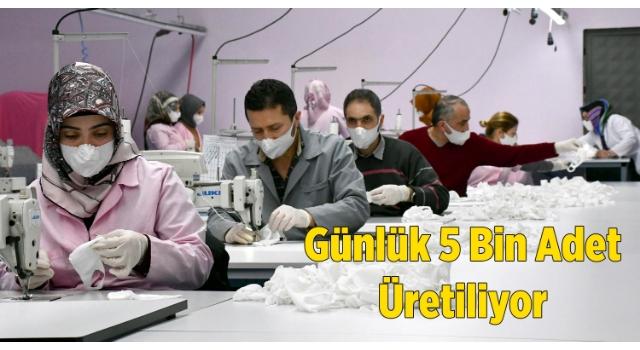 Tekstil firması, yıkanabilir maske üretmeye başladı