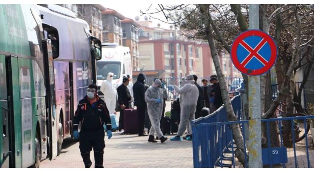 Yurt dışından gelen 360 kişi Tekirdağ'daki yurtlara yerleştirildi