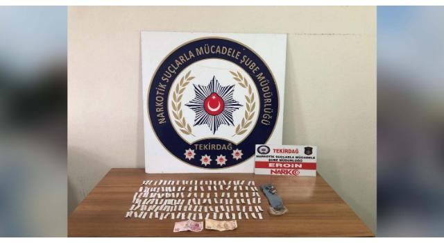 Çorlu'da sokak satıcılarına operasyon; 5 gözaltı