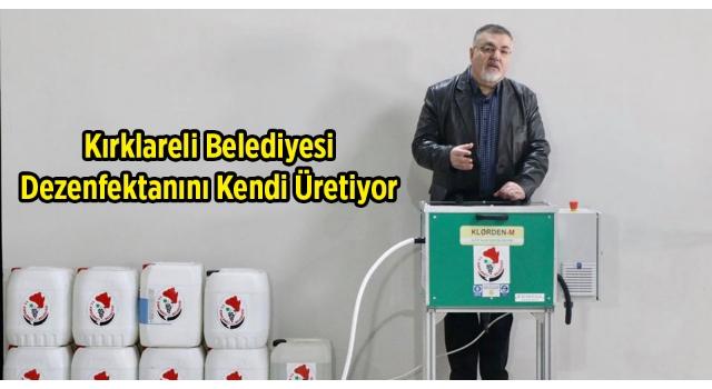 Kırklareli Belediyesi Günlük 200 Litre Dezenfektan Üretiyor