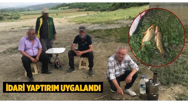 Malkara'da Yasağa Rağmen Kaçak Balık Avlayanlar Yakalandı
