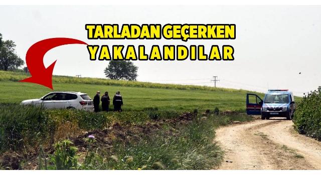 Tekirdağ'a tarla yollarından gelmek isteyenler jandarmaya yakalandı