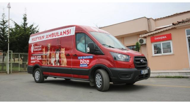 Hayvan ambulansı minik dostlar için hizmete başladı