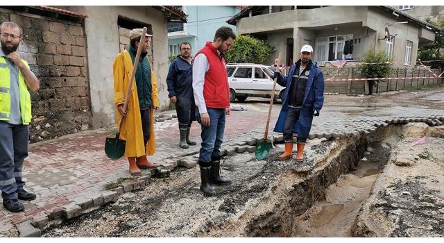 Sel meydana gelen Pınarhisar'da hasar tespit çalışması başladı