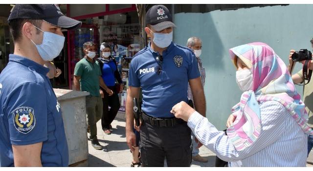 Tekirdağ'da polisten maske uyarısı