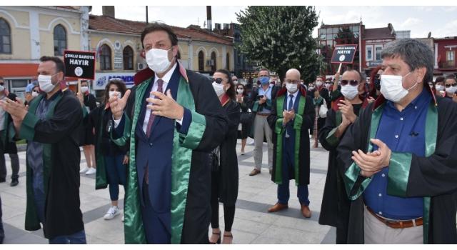 Edirne'de avukatlar yürüyüş düzenledi