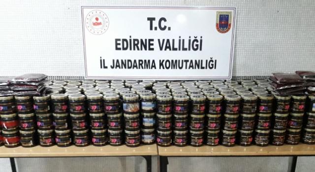 Keşan'da 394 kilo kaçak nargile tütünü ele geçirildi