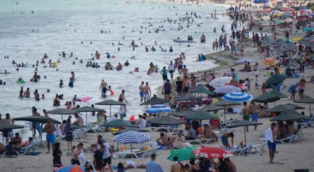 Tekirdağ sahillerine tatilci akını