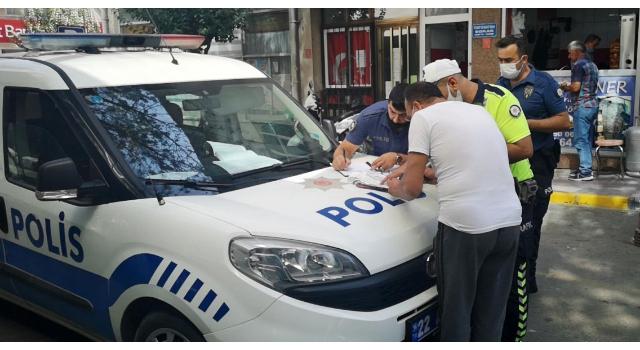 'Dur' ihtarına uymayan maskesiz ve ehliyetsiz motosikletliye 3 bin 661 lira ceza