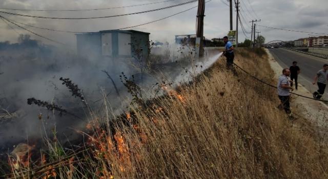 Malkara Otogarının Yanında Yangın Çıktı