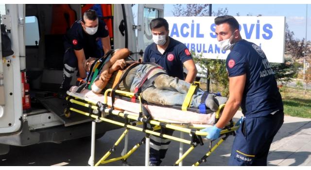 Malkara'da 5 metreden düşen işçi yaralandı