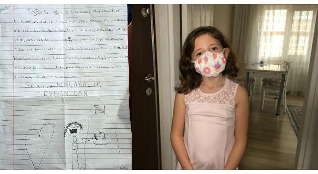 (ÖZEL) Minik Ceylin'den sağlık çalışanlarına mektup