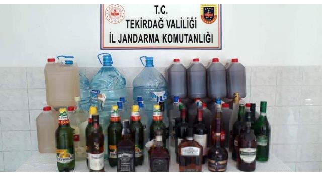 Tekirdağ'da 751 litre sahte içki ele geçirildi