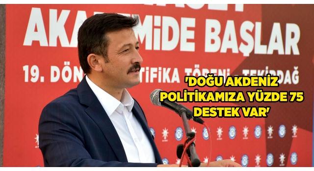 AK Parti'li Dağ: Doğu Akdeniz politikamıza yüzde 75 destek var