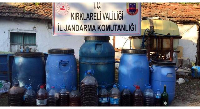 Kırklareli'de 760 litre sahte içki ele geçirildi