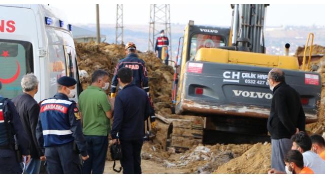 Lojman inşaatı altyapı çalışmasında göçük: 1 işçi öldü
