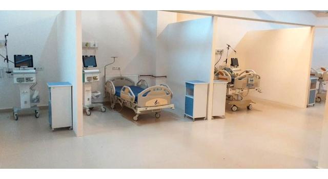 Edirne'de hastane sığınağı, 10 yataklı yoğun bakıma dönüştürüldü