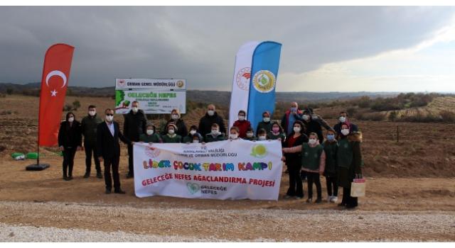 Kırklareli'de, 'Lider çocuk tarım kampı' yapıldı