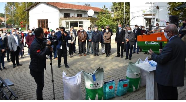 Malkara'da gübre ve tohum dağıtımı töreni yapıldı