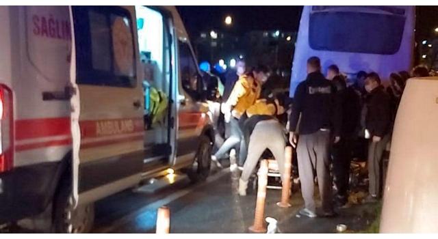 Kaza yapan kurye ağır yaralandı