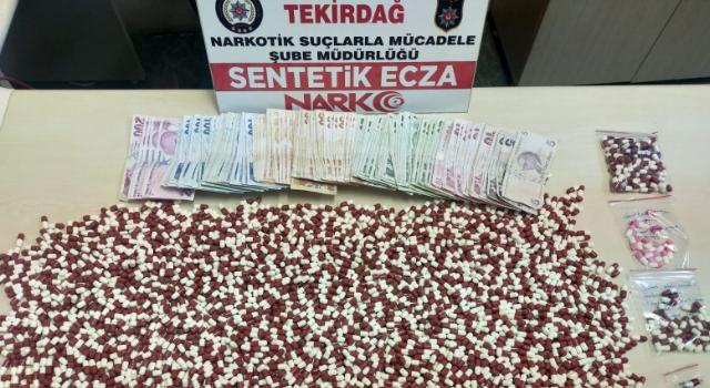 Tekirdağ'da 3 bin 578 uyuşturucu hap ele geçirildi