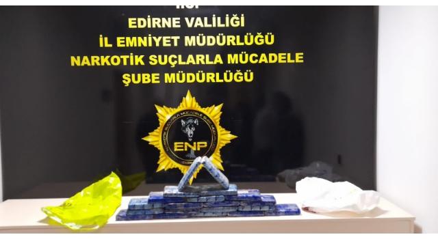 İstanbul'dan Edirne'ye uyuşturucu getirmek isteyenler 10 kilo 'eroin' ile yakalandı