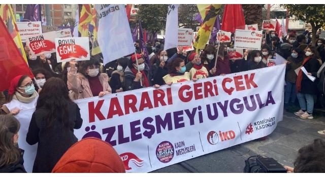 Kadıköy'de İstanbul Sözleşmesi protestosu