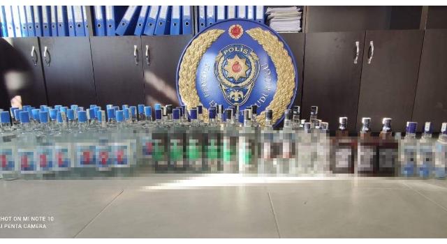 Tekirdağ'da 68 şişe kaçak içki ele geçirildi