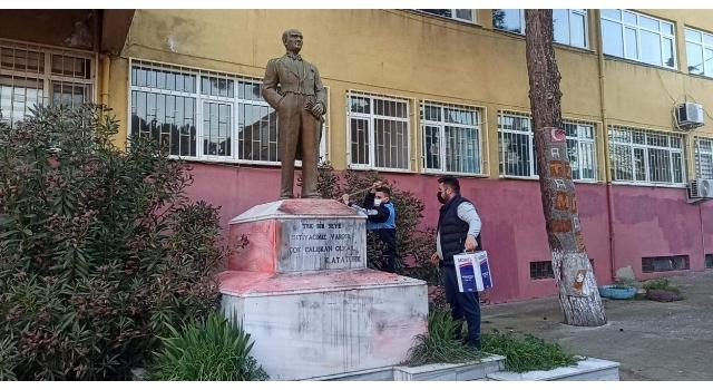 Tekirdağ'da Atatürk heykeline saldırının faili yakalandı
