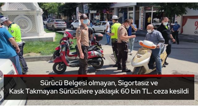 Malkara Polisinden Motosiklet Uygulaması