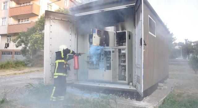 Malkara'da elektrik trafosunda çıkan yangın korkuttu
