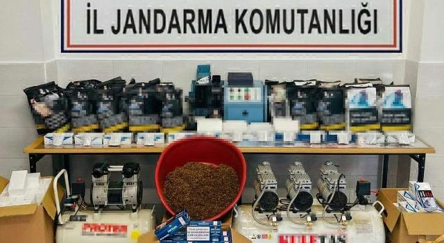 Tekirdağ'da evde kaçak tütün üreten şüpheli yakalandı