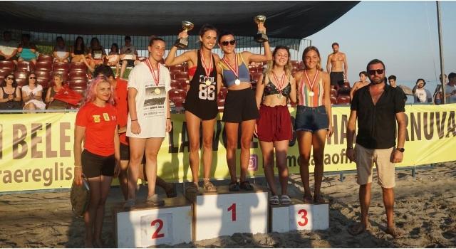 Tekirdağ'da uluslararası plaj voleybolu heyecanı yaşandı