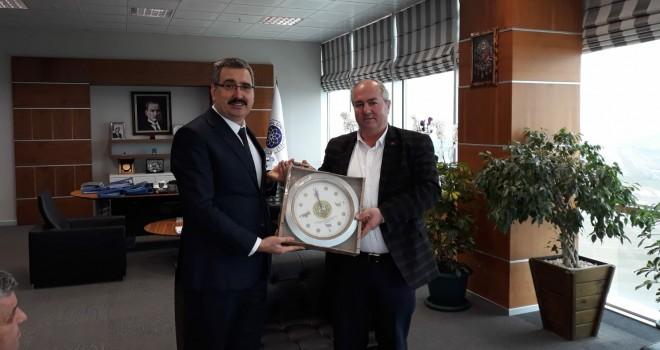 Tekirdağ Koyun Keçi Yetiştiricileri Birliği'nden NKÜ Rektörü Şahin'e Ziyaret