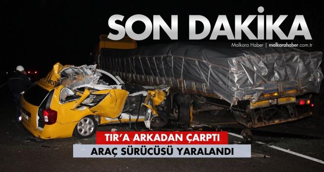 Ticari Taksi Sürücüsü Yaralandı