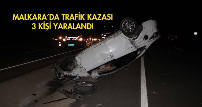 Malkara'da Trafik Kazası; 3 Yaralı