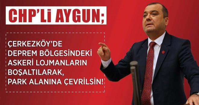 CHP Tekirdağ Milletvekili Aygun'dan Yeşil Alan Talebi