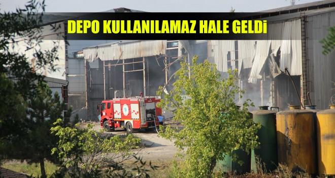 Kullanılmayan Yağ Fabrikasında Yangın Çıktı