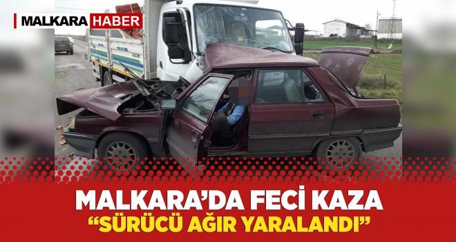 Kamyonet ile Otomobil Çarpıştı; 1 Yaralı
