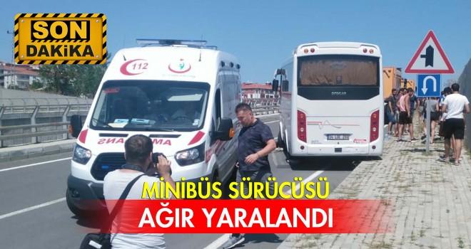 Sualtı Spor Kulübü Öğrencilerini Taşıyan Minibüs Kaza Yaptı