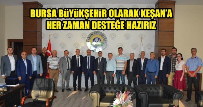Bursa Büyükşehir Belediye Başkanı Aktaş'tan Keşan'a Ziyaret