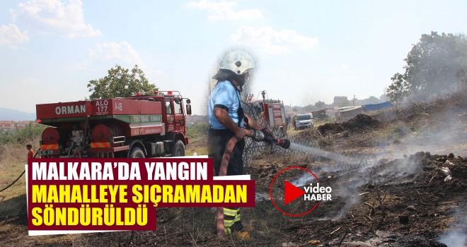Yangın Mahalleye Sıçramadan Söndürüldü